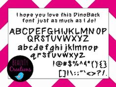 """Check out my new """"DinoBack"""" Font at my TPT Store - BeauxTy Creations!"""