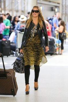4317f7e51332 Heidi Klum wearing Roberto Cavalli. Heidi Klum LAX Airport May 22 2013