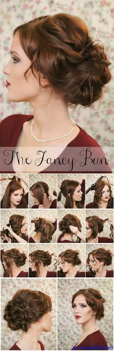 Bun hair styles easy bun hair women fashions