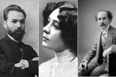 Валерий Брюсов, Нина Петровская и Андрей Белый.