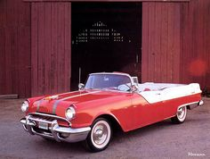 "Finally, the 1955 model year saw the introduction of the overhead-valve ""Strato Streak"" (287cid/180bhp) V8. The Star Chief convertible model shown, was highlighted during the 1954-55 season of the most popular TV series of its day, ""I Love Lucy""."