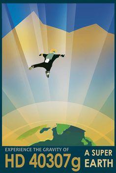 14 espectaculares carteles de la NASA sobre turismo espacial para descargar gratis   FuriaMag   Arts Magazine