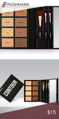 Contour palette! New! With tags 8 contour powders in one pallet! With 3 large brush and mirror. Profusion Makeup Bronzer
