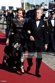 Prince Leopold, Poldi and his wife Princess Ursula, Uschi of Bayern arrive for the Pre-Wedding Dinner for Prince Carl Philip and Sofia Hellqvist on June 12, 2015 in Stockholm, Sweden.  (Photo by Ian Gavan/Getty Images)