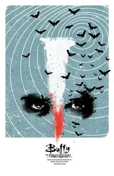 Buffy the Vampire Slayer, designed by Adam Juresko. Technically NOT a movie poster, but it's hanging on my wall right now. Thanks, Ali! #buffylove