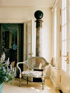 Celebrity Homes: Oscar de la Renta's Country House | Vogue Palazzo, English Interior, Brick Garden, French Country House, Country Farmhouse, Celebrity Houses, Classic Elegance, Design Inspiration, Design Ideas