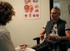Brad King (Curt Bonnem) & his doctor (Jennifer Kramer) Shocking News, Old Dogs, New Tricks, Special Guest, Relationship, Feelings, Relationships