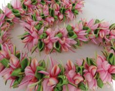 Peach bud hawaiian flower lei -    Edit Listing  - Etsy