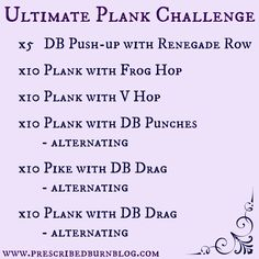 Prescribed Burn Ultimate Plank Challenge