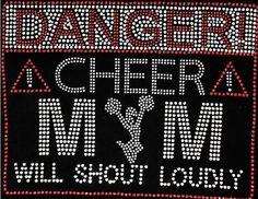 CHEER MOM Danger Rhinestone Bling T-shirt for Sport's Mom #MagicUNISEX…