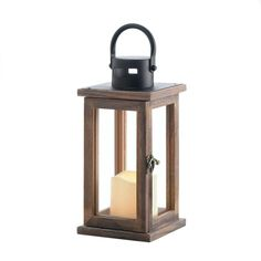 Light up the night anytime with this rustic wooden lantern that& filled with a modern LED-powered candle. Simply switch it on and you& enjoy the candle-like glow this lantern spreads across the room. Material(s):WOOD - PINE GLASS IRON LED LIGHT x x Led Candles, Candle Lanterns, Glass Candle, Candleholders, Candle Set, Scented Candles, Candle Sconces, Wall Sconces, Wooden Candle Holders