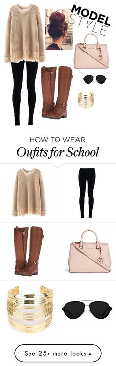 """School Outfit"" by zuleexov on Polyvore featuring NIKE, Michael Kors, Naturalizer, 3.1 Phillip Lim and WithChic"