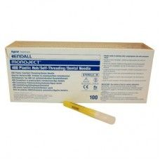 Monoject® 400 Plastic Hub Disposable, Needles  Kendall  (Box of 100 needles)