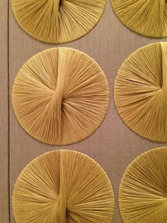 Sheila Hicks silk and linen textile wall hanging at the Ford Foundation in New York City