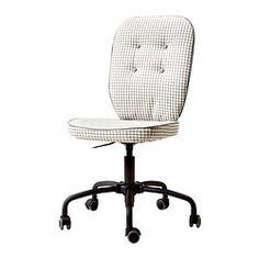LILLHÖJDEN Swivel chair - grey patterned - IKEA