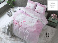 Różowa pościel 200x220 do sypialni