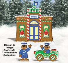 gingerbread village patterns | your Gingerbread Village Holiday display! You get full-size patterns ...