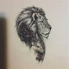 Lion and Lamb Tattoo