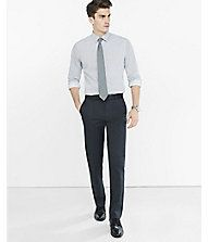 Fitted Multi Dot Print Dress Shirt from EXPRESS