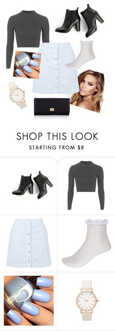 """""""Rainy day"""" by madi0401 ❤ liked on Polyvore featuring SWEET MANGO, Topshop, Charlotte Tilbury, River Island and Dolce&Gabbana"""