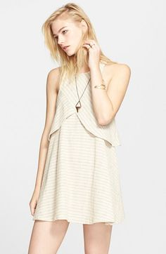 Free+People+'Novelty+Blue+Sapphire'+Sleeveless+Dress+available+at+#Nordstrom
