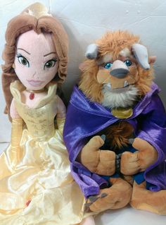Beauty and The Beast Belle and The Beast Plush Dolls Lot | eBay