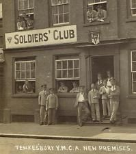 WWI, 1916, YMCA club for wounded soldiers.
