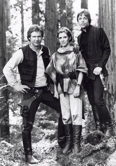 Harrison Ford, Carrie Fisher et Mark Hamill