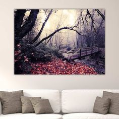 Γέφυρα στο Δάσος Νο 2 πίνακας σε καμβά Tapestry, Home Decor, Hanging Tapestry, Tapestries, Decoration Home, Room Decor, Home Interior Design, Needlepoint, Wallpapers