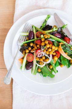 Salade de Pois Chiches Croustillants + Vinaigrette Citron, Ail et Cumin | Christelle is Flabbergasting