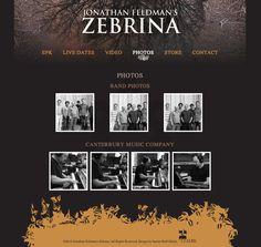 Jonathan Feldman's Zebrina website - Design by Janine Stoll Media - www.janinestollmedia.com
