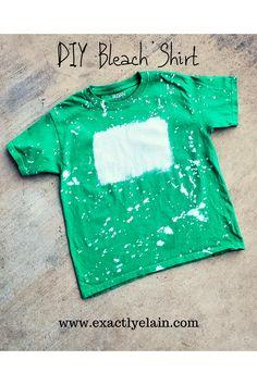 Bleach Spray Shirt, Bleach T Shirts, Vinyl Shirts, Bleach Pen, Diy Tie Dye Shirts, T Shirt Diy, Bleaching Clothes, Ty Dye, Acid Wash Shirt