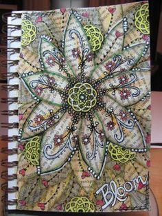 New Doodle Art Journal Student 61 Ideas Doodle Books, Doodle Art Journals, Art Journal Pages, Zentangle, Doddle Art, Canvas Art Projects, Newspaper Art, Art Journal Inspiration, Journal Ideas