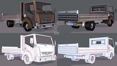 Truck Cartoon | 3D model