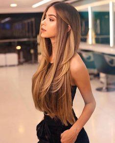 72 Brunette Hair Color Ideas in 2019 Ideas, Hair, Hair Goals, Brunette, Color Natural Hair Styles, Short Hair Styles, Long Hair Styles Straight, Brown Blonde Hair, Blonde Bob, Straight Brunette Hair, Brunette Haircut, Balayage Straight Hair, Dark Hair