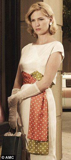 January Jones plays Betty Draper on Madmen