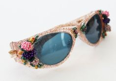 vintage sunglasses 1950s confetti lucite pink carmen by LisaLoot, $175.00