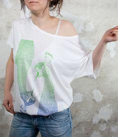 Pfau V Schrey Shirt mit Farbverlauf von Café Lala auf DaWanda.com