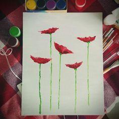 My poppies #art #poppy #paint #flower