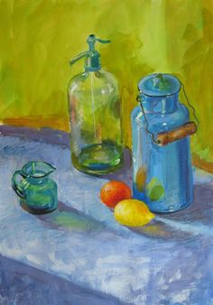 Still Life with Milk Churn Painting by The Artist Sonia Bacchus
