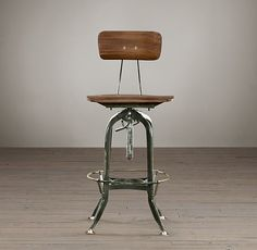 Reproduction 1930u0027s Clement Uhlu0027s Vintage Toledo Bar Chair, Machine Age  Designed Draftmanu0027s ...