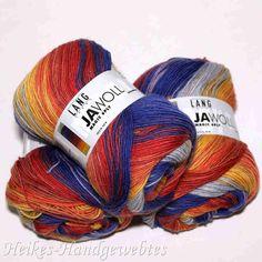 Jawoll Magic 6-fach Orange-Gelb-Blau Lang Yarns - Heikes Handgewebtes: Traumhafte Wolle für Socken und noch viel mehr - dreamlike wool for socks and much more