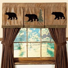 Bear Pleated Rod Pocket Valance