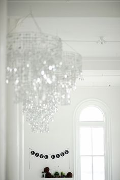 Love the teared feel and weight of these. I think we could make them super cheap. Ceiling Decor, Ceiling Lights, Event Decor, Live Life, Awards, New Homes, House, Home Decor, Decoration Home
