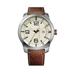 CROC LEATHER BROWN STRAP WITH SILVER DETAIL | Tommy Hilfiger USA