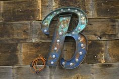 Retro Marquee Lighted Letter