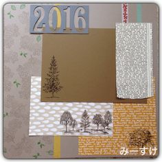 #Stampin up #SU #in color #lovely as a tree #scrapbooking