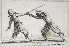 Jacques Callot, French (Nancy 1592 - 1635 Nancy) Duel with Swords and Daggers, Series/Book Title: Capricci (Nancy set) - Print, French, 17th century
