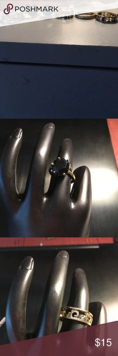 Bohemian Style Ring Set Size 7 Bohemian style ring set comes with six rings. All Rings are forever 21. All rings are a Size 7. All Rings are costume jewelry gold. All rings are Bohemian style. Smoke free home. Forever 21 Jewelry Rings