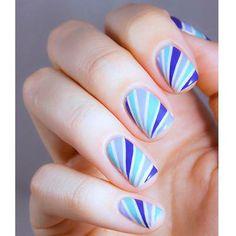 #Beauty #nails #hand #nailart #blue #shades #beautiful #Manucurist